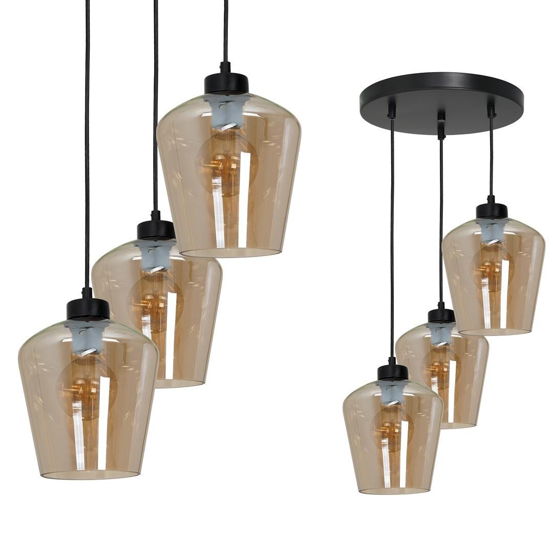 Lampă suspendată Santiago Amber 3x E27
