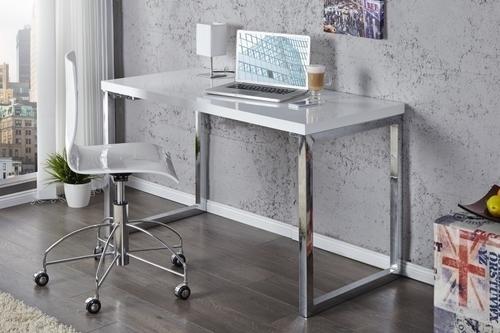 Birou INVICTA VERK 120x60 alb - oțel