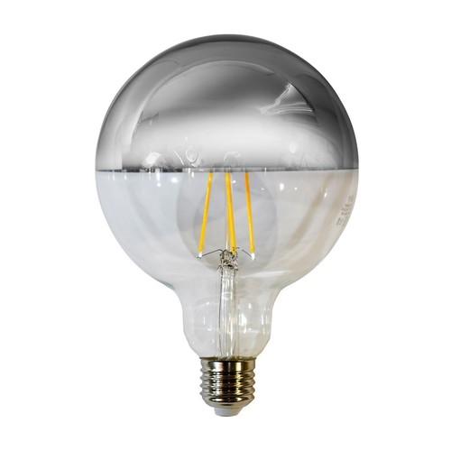 Bec cu filament LED de 7,5 W G125 E27 Argintiu