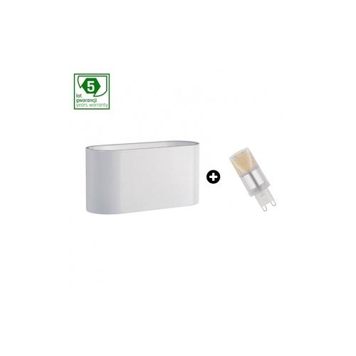 Pachet de garanție de 5 ani: Squalla G9 White + Led G9 4w Ww (Slip006009 + Woj + 14433)