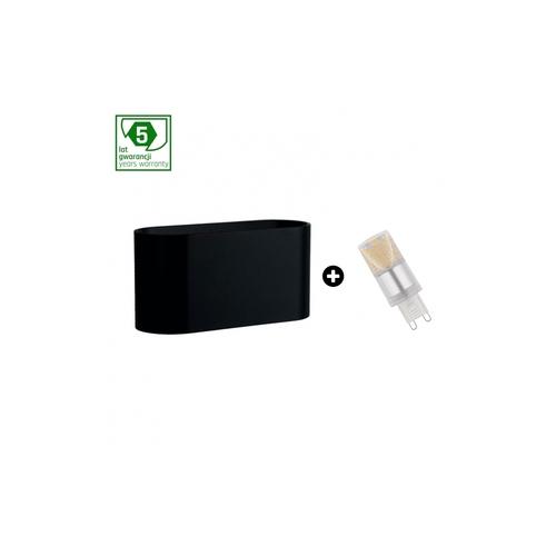 Pachet de garanție de 5 ani: Squalla G9 Black + Led G9 4w Ww (Slip006010 + Woj + 14433)