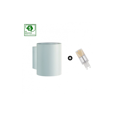 Pachet de 5 ani garanție: Squalla G9 Tuba White + Led G9 4w Ww (Slip006011 + Woj + 14433)