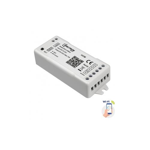 Controler pentru benzi LED Rgbw + Cct + Dimm 12 / 24v DC 120w / 240w Wi-Fi Spectrum Smart