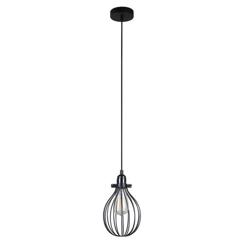 Lampă suspendată neagră Lesto E27