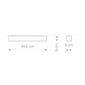 Corp de iluminat SOFT LED GRAPHITE 90X6 small 0