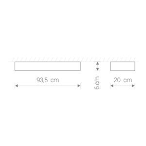 Corp de iluminat SOFT LED WHITE 90X20 small 0