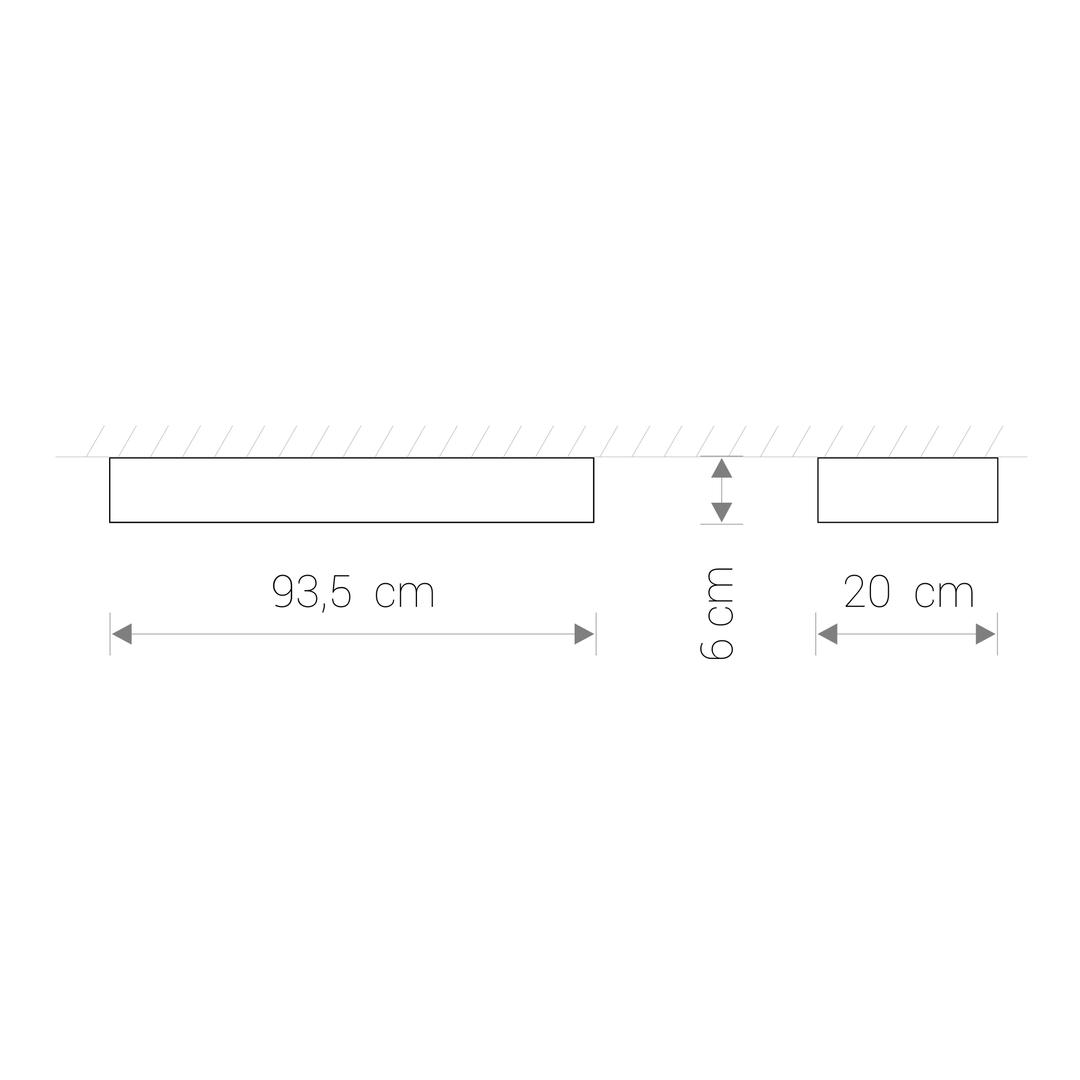 Corp de iluminat SOFT LED WHITE 90X20
