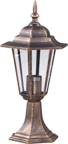 Lampă externă joasă K-5009S negru / auriu din seria STANDARD