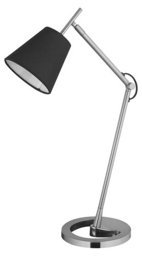 Lampa de birou Lily 230V / 25W E14 negru / argintiu