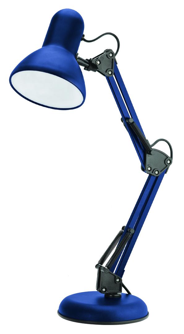 Lampa de birou Pixie 230V / 25W E27 albastru