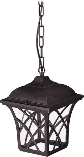 Lampă suspendată de exterior K-5180H neagră din seria KERRY