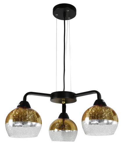Lampă suspendată Cromina Gold 3X60W E27 Negru