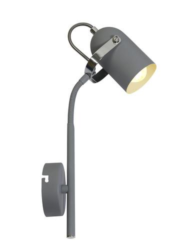 Lampă de perete Lampă gri pe extensie 1X40W E14 Gri