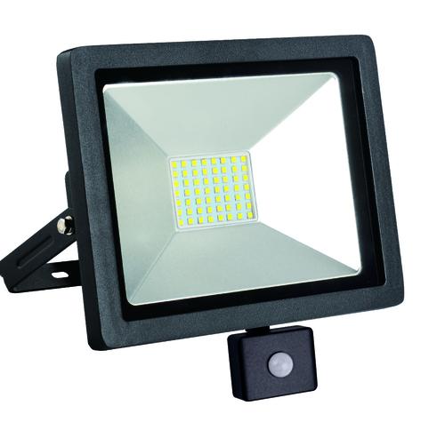 Lampa de inundare LED subțire cu senzor de mișcare 30W / 230V 6400K PIR