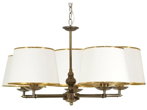 Lampă mare suspendată 5X40W E14 Patină