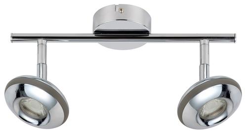 Banda de plafon Skipper 2x6W Led Led Head Head Round 1E Cu Sistem Kd comun Chrome