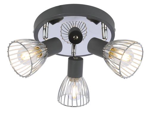 Plafoniera Modo Plafond 3X40W E14 Negru + Crom