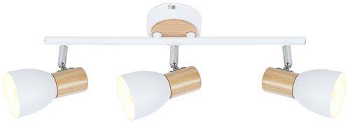 Anabel 2 plafon bandă 3Xmax25W E14 alb + lemn