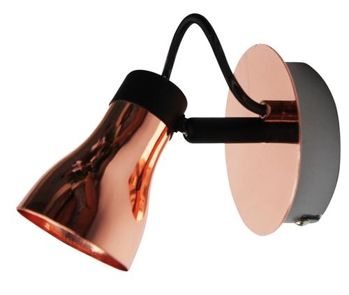 Lampă de perete Angus Lampă 1X50W Gu10 Negru + Cupru