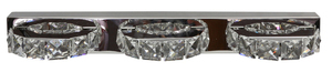 Lampă de perete Shipi 3X3W Cristale cu led din oțel inoxidabil small 0