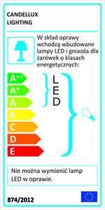Lampă de perete Sylwana Lampă 1X40W E14 + Led cu întrerupător nichel satinat / verde închis small 1