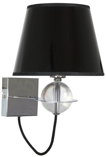 Lampă de perete Tesoro Lampă 1X40W E14 Black Golden Center