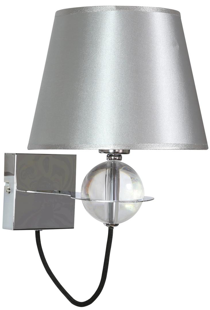 Lampă de perete Tesoro Lampă 1X40W E14 Argintiu