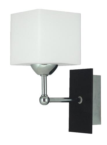 Lampă de perete Cubetto Lampă 1X60 E27 Lemn + crom