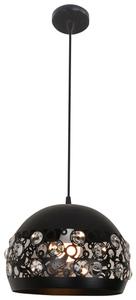 Lampă suspendată Jolina 30 1X40W E27 Negru small 0