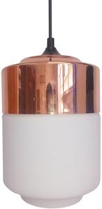 Lampă suspendată Masala 17 1X60W E27 albă cu acoperire de cupru small 0