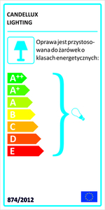 Lampă suspendată Decorado 18 1X60W E27 Abajur de chihlimbar + Bec small 1