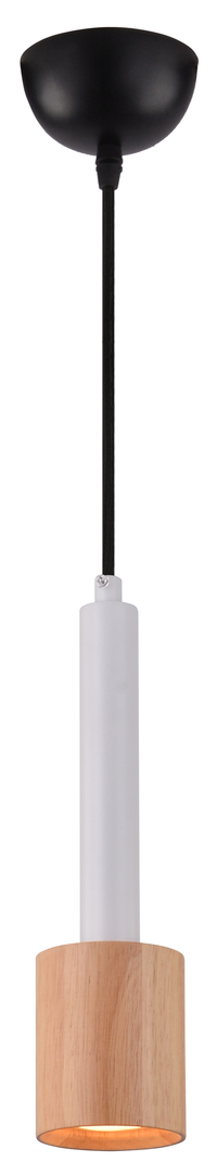 Lampă suspendată Tantal 7.5Cm 1X50W Gu10 Alb + Lemn