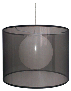 Lampă suspendată Chicago 37 1X60W E27 Negru small 0