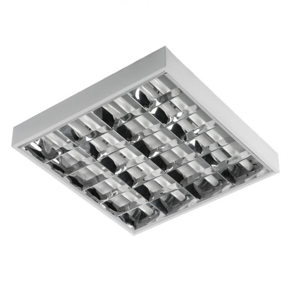 Corp de iluminat raster pentru lămpile fluorescente cu LED-uri 4x18W