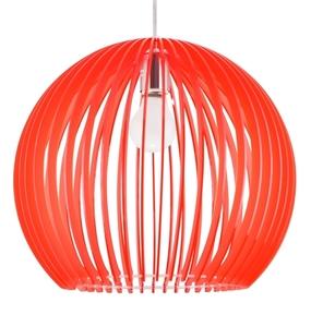 Lampă suspendată Haga 1X60W E27 36X36X110 Roșu small 0