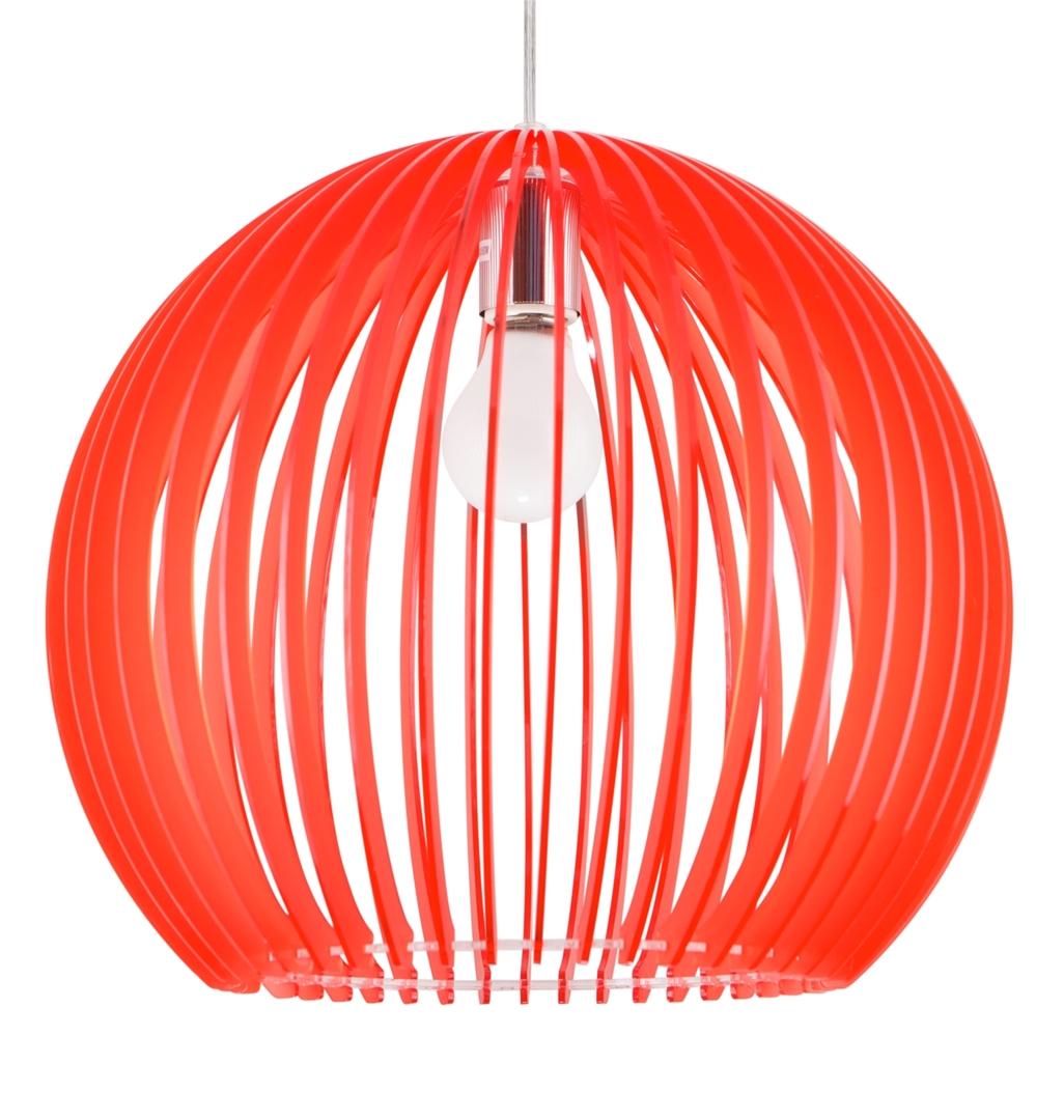 Lampă suspendată Haga 1X60W E27 36X36X110 Roșu