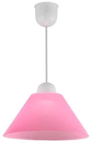 Lampă suspendată Fama Plastic E27 1X60W Roz Promoție