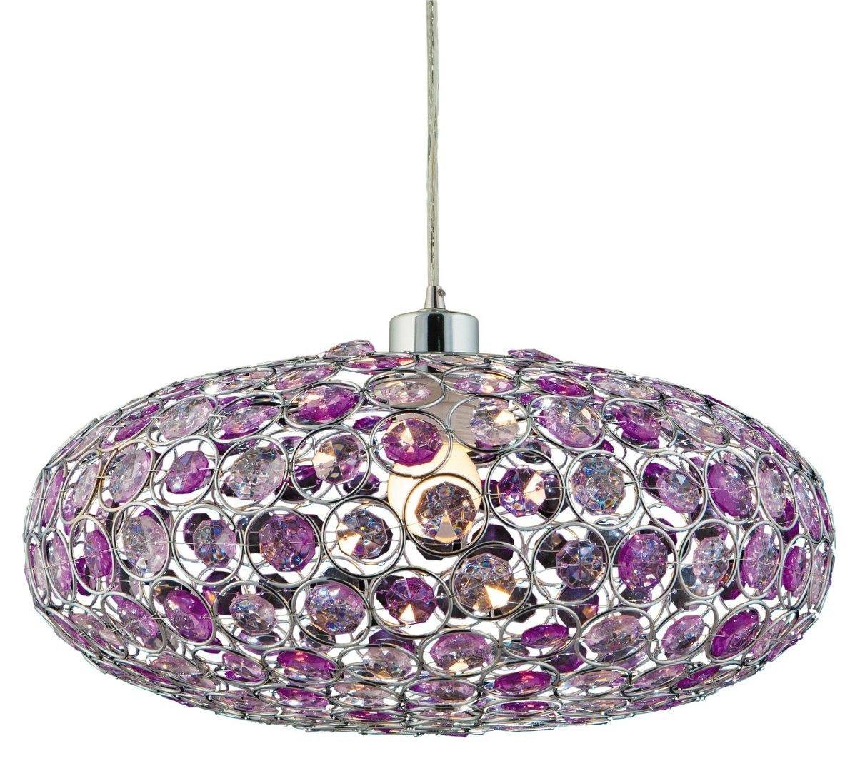 Lampă suspendată Cristy 38 1x60W E27 Violet + frânghie 85-10523