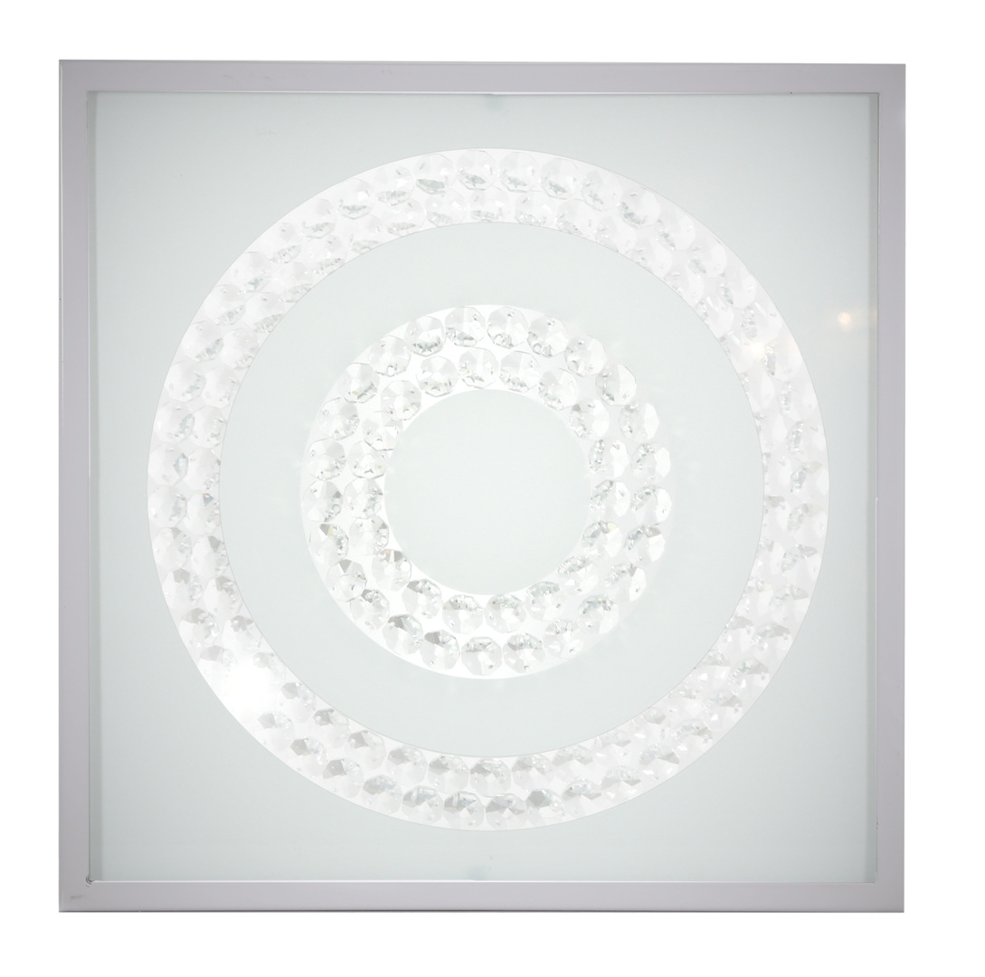 Plafoniera Lux Plafond 29X29 16W Led 6500K Satin Ring Double