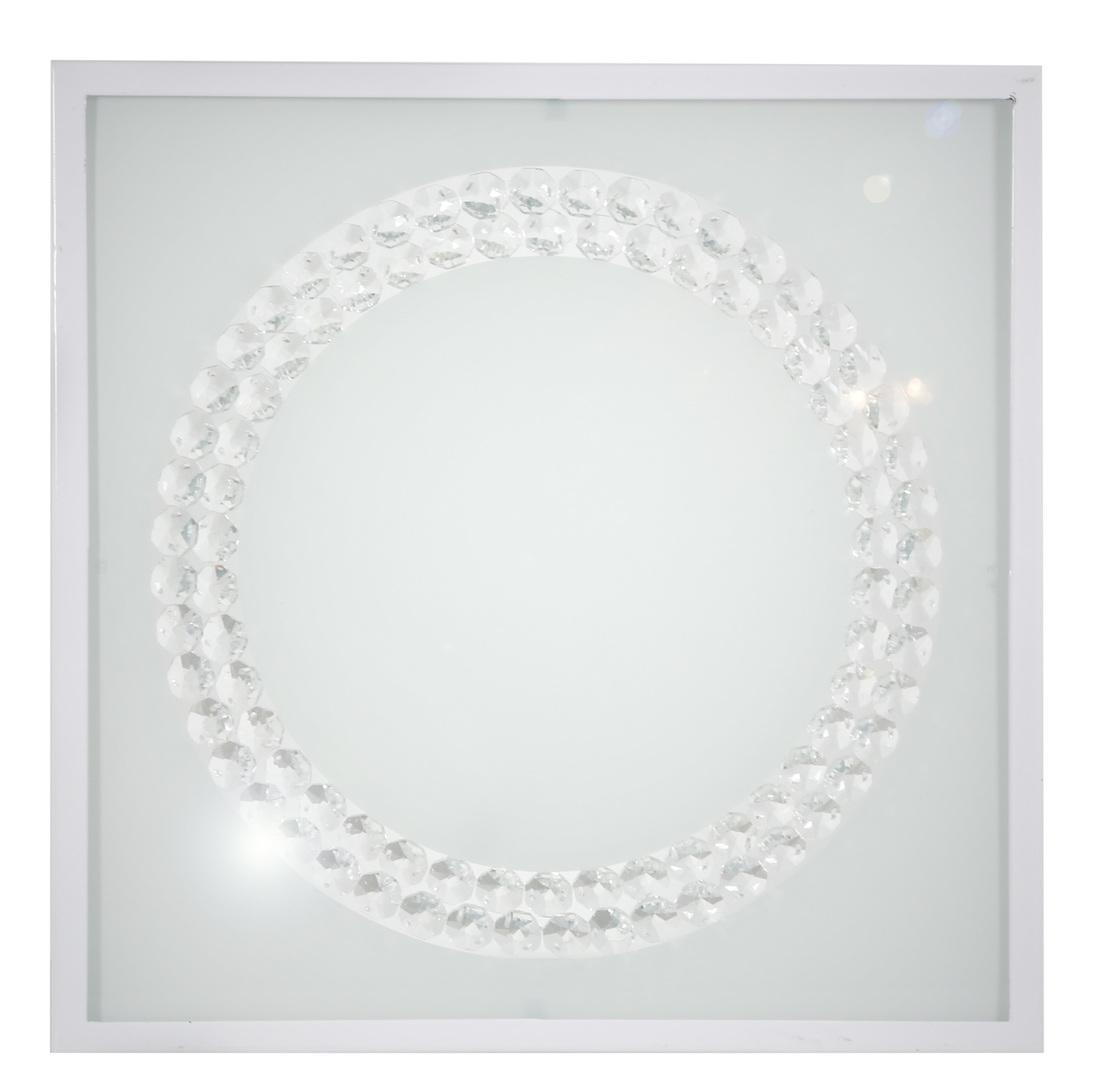 Plafoniera Lux Plafond 29X29 16W Led 4000K Inel mare alb