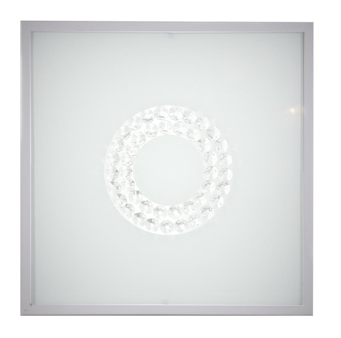 Plafoniera Lux Plafond 29X29 16W Led 4000K Inel mic din satin