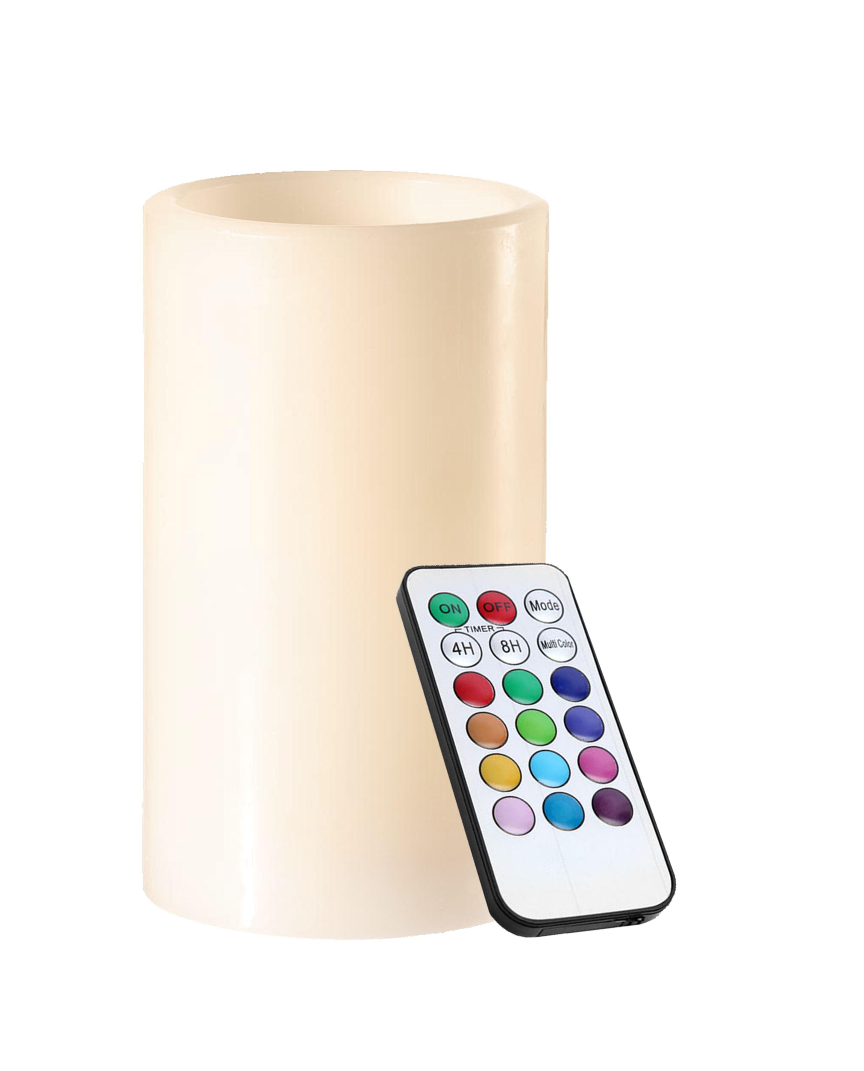 Lumânare LED de ceară RGB cu telecomandă
