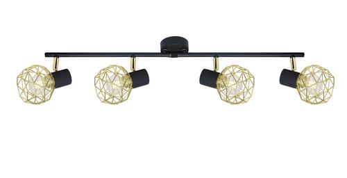 Lampă Acrobat Strip 4X40W E14 Abajur auriu negru