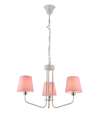 Lampă suspendată York 3 White Pink