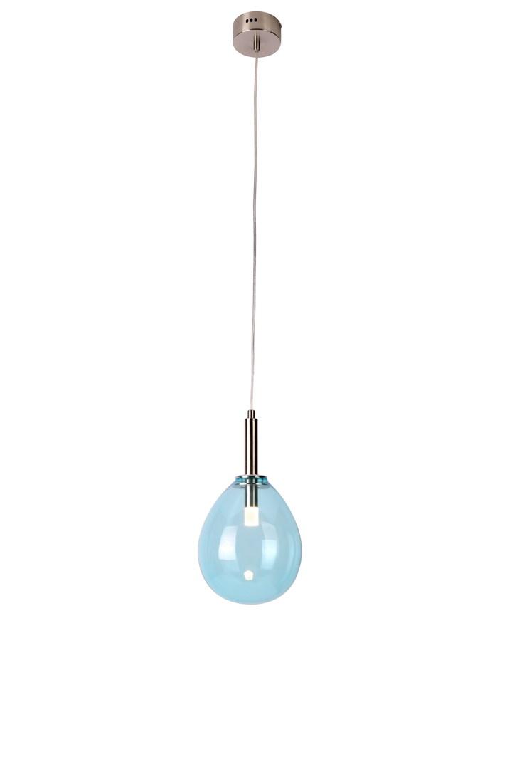 Lampă suspendată Lucka 1 Chrome Albastru