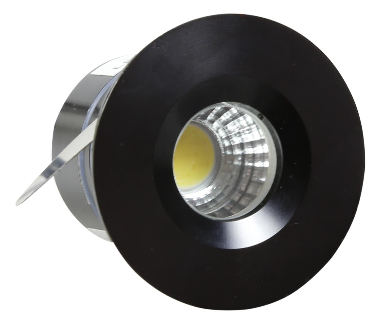 Sh-14 Bk 3W Led 230V Lampă de tavan cu ochi negru Lampă de tavan ermetică Ip65 Rezistență la umiditate