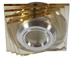 Ss-32 Al / Am 3W Led Cob 230V Op. Plafon fixe pătrate sticlă chihlimbar small 0