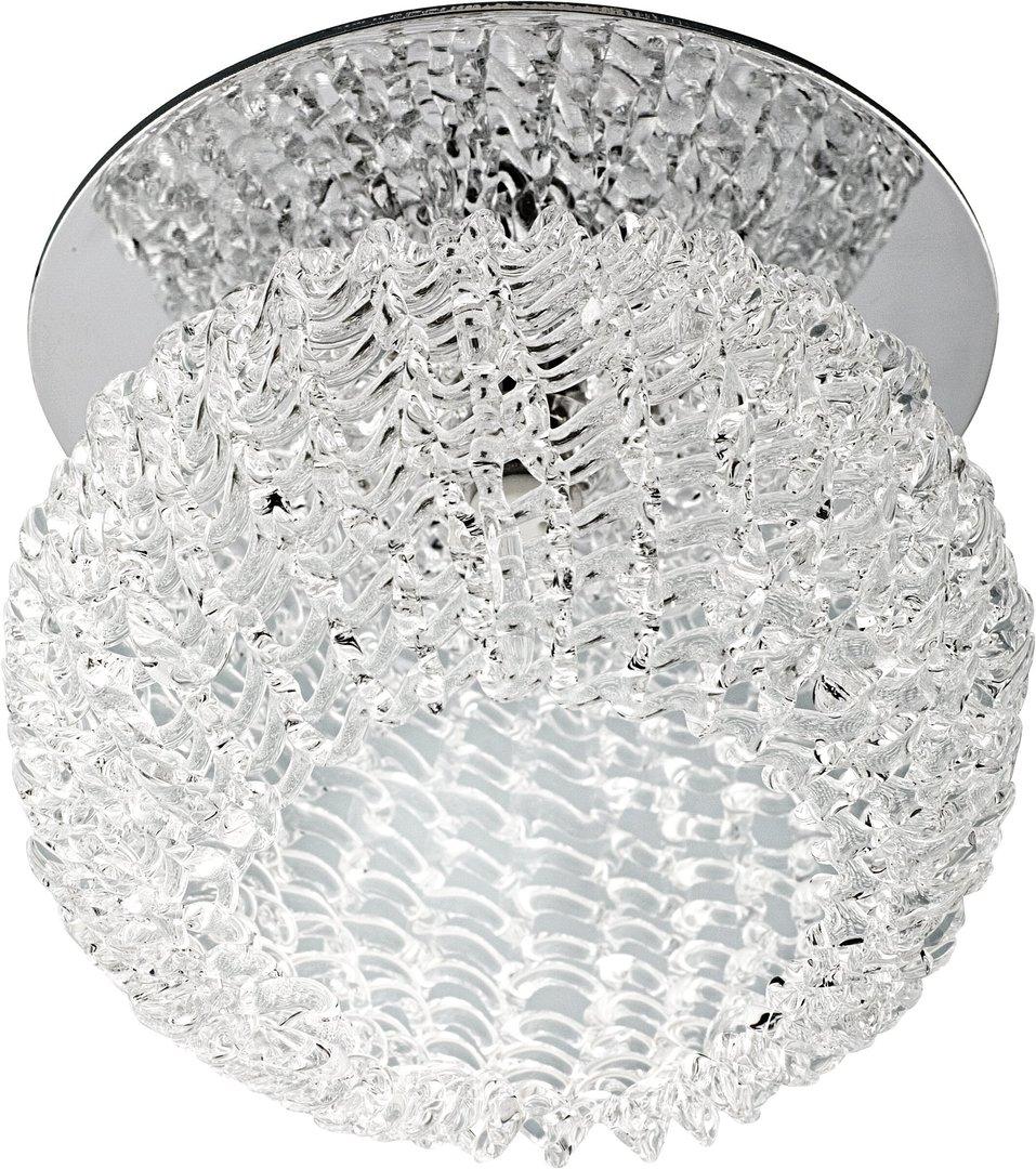 Sk-35 Ch G4 Crom Flush Plafon Crystal Constant 20W G4 Ball 3