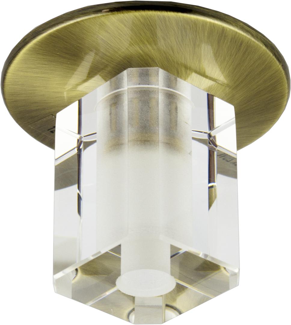 Sk-17 Gab G4 Patina Flush Plafon Fixed Crystal G4 20W