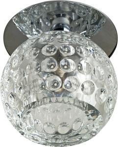 Sk-20 Ch G4 Crom Flush Plafon Crystal Constant 20W G4 Sphere small 0